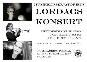 Plakat lørdagskonsert 31.08.
